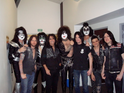 Alice Cooper, his band and KISS